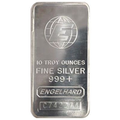 Buy 10 Oz Engelhard Silver Bullion Bars Silver Com