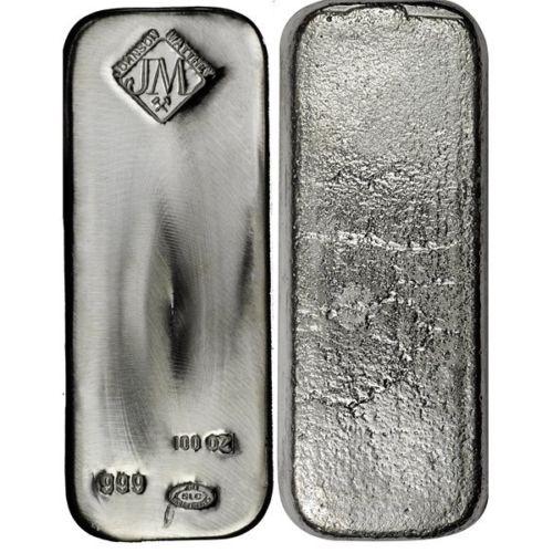 Buy 100 Oz Johnson Matthey Silver Bullion Bars Silver Com