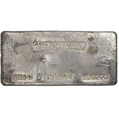 Buy 100 Oz Engelhard Silver Bars 999 Fine Silver Com