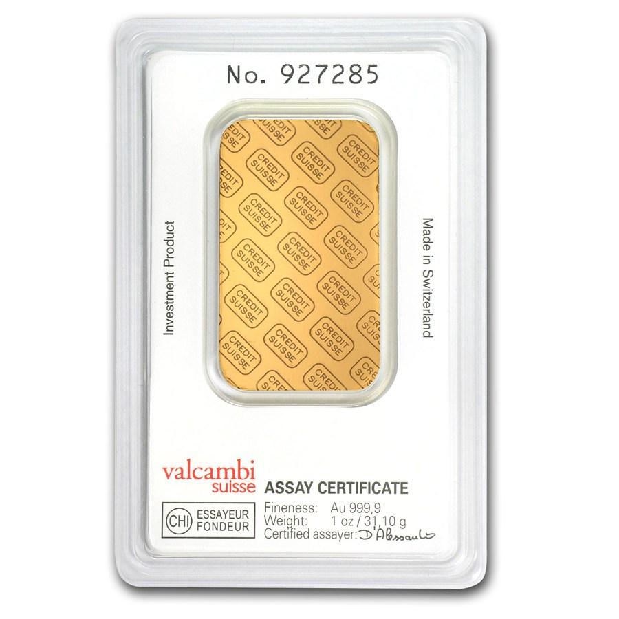 Buy 1 Oz Credit Suisse Gold Bullion Bars Silver Com
