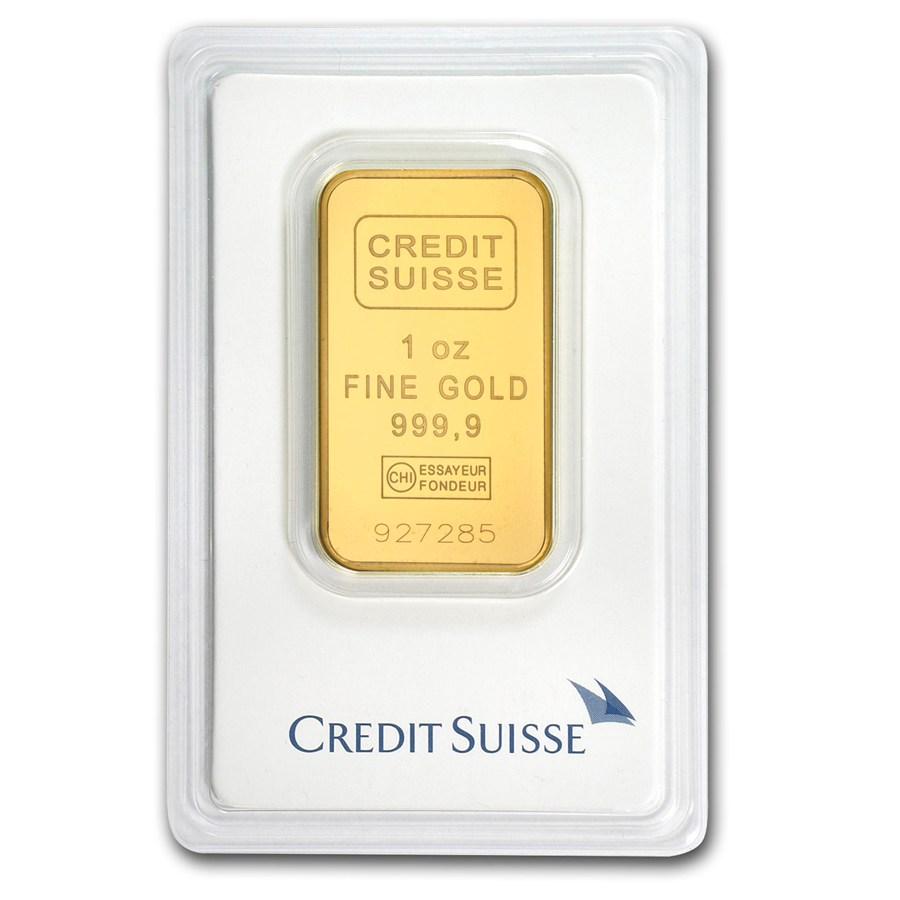 1 Oz Credit Suisse Gold Bullion Bars