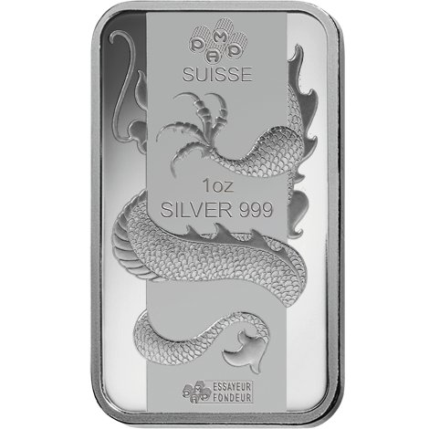 Buy 1 Oz Pamp Suisse Lunar Dragon Silver Bars Silver Com