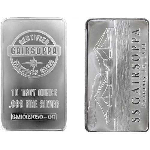 Buy 10 Oz S S Gairsoppa Silver Bars 999 New Silver Com