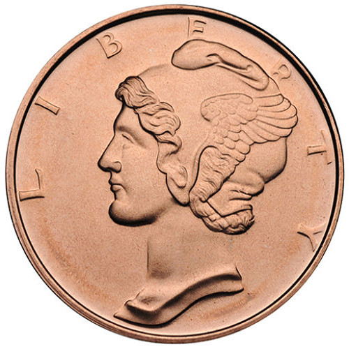 Buy 1 Oz Mercury Dime Copper Rounds 999 Pure Silver Com