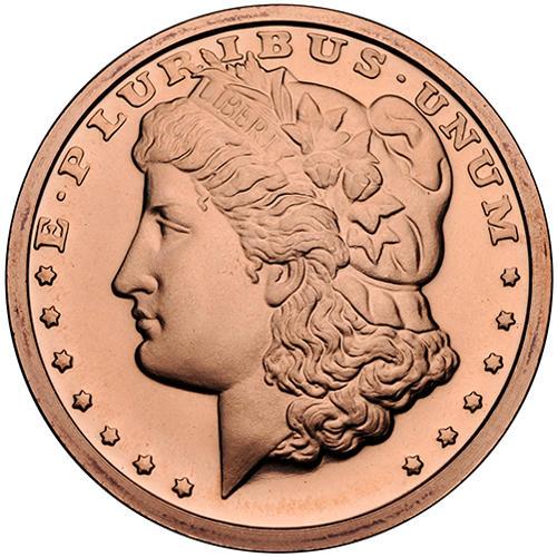 Buy 1 Oz Morgan Dollar Copper Rounds 999 Pure Silver Com