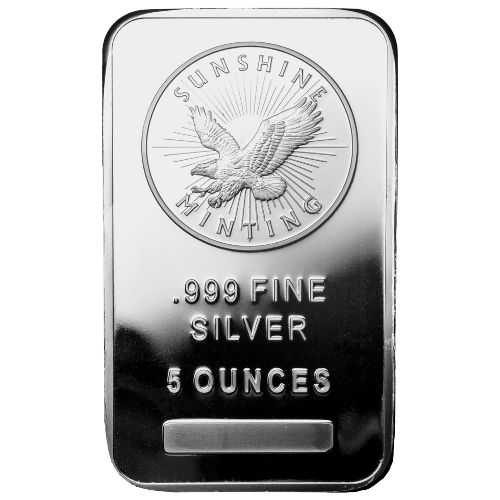 Buy 5 Oz Sunshine Silver Bullion Bars Silver Com