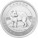 2014 1.5 oz Canadian Silver Arctic Fox (BU)