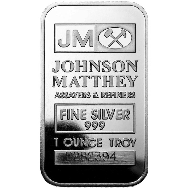 1 Oz Johnson Matthey Silver Bar New