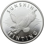 1 oz Sunshine Silver Round (New)