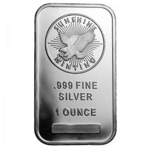 1 oz Sunshine Silver Bar (New)