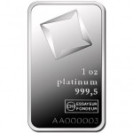 1 oz Valcambi Platinum Bar (New w/ Assay)