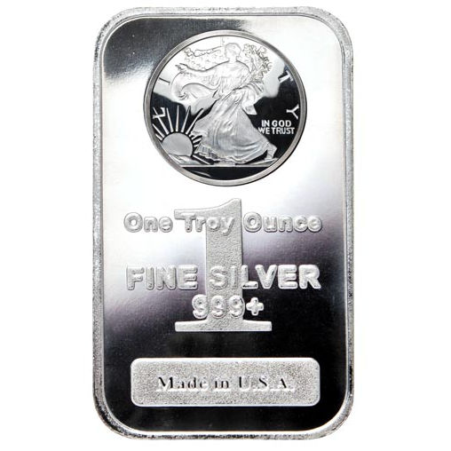 1 oz Walking Liberty Silver Bar (New)