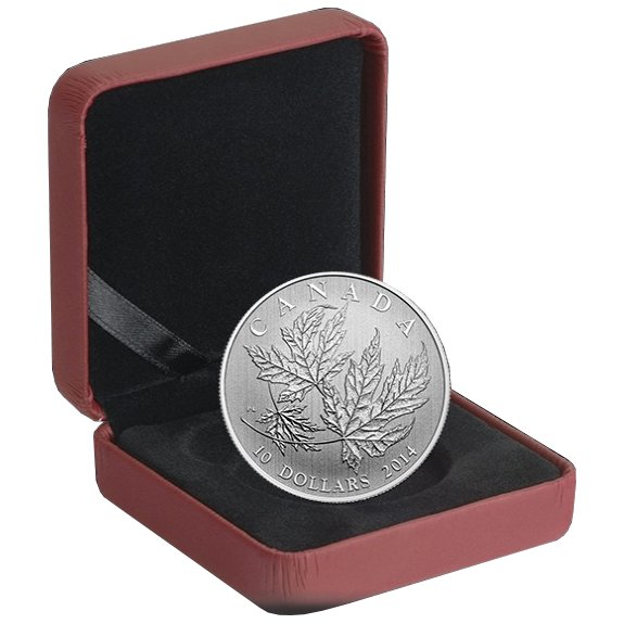 2014 1/2 oz Maple Leaf $10 Canadian Silver Coin