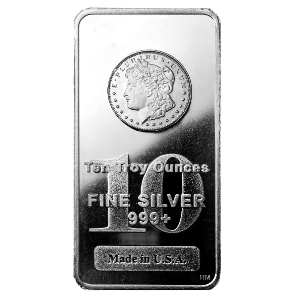 Buy 10 Oz Morgan Design Silver Bars Silver Com
