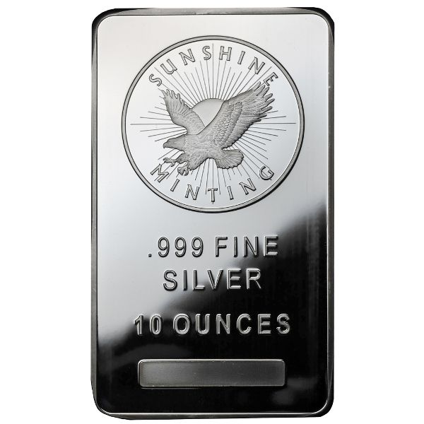 Buy 10 Oz Sunshine Silver Bullion Bars Silver Com