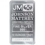 10 oz Johnson Matthey Silver Bar (New, Re-Released)