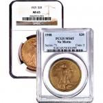 $20 Saint Gaudens Gold Double Eagle (MS65)