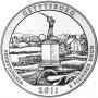 2011 5 oz ATB Gettysburg Silver Coin (BU)