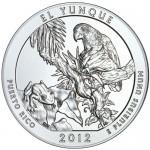 2012 5 oz ATB El Yunque Silver Coin (BU)
