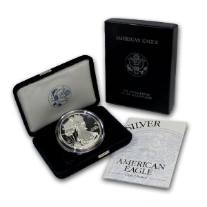 1998-P Silver American Eagle Proof 1 oz US Mint Coin with Box and COA .999