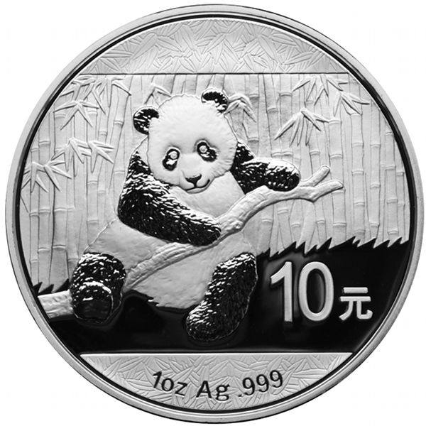 2017 1 Oz Chinese Silver Panda Bu