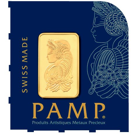 25 Gram PAMP Suisse Divisible Gold Bar (New w/ Assay, 25x1)