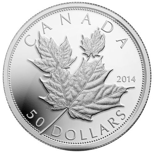 2014 5 oz Canadian Silver Maple Leaf (High Relief)