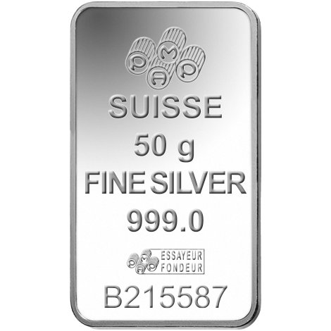 50 Gram Pamp Suisse Fortuna Silver Bars New In Ay