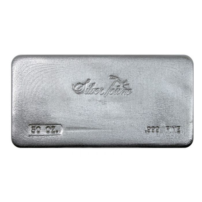 Buy 50 Oz Silvertowne Poured Silver Bars Silver Com