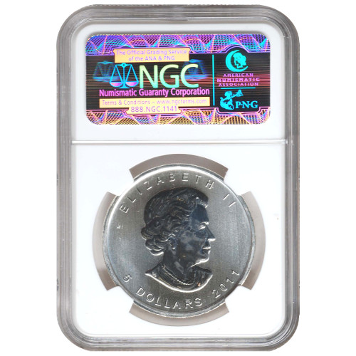 2011 Canadian Silver Maple Leaf NGC MS68
