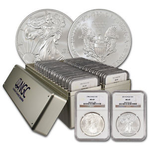 1986-2014 American Silver Eagle Coin Set NGC MS69