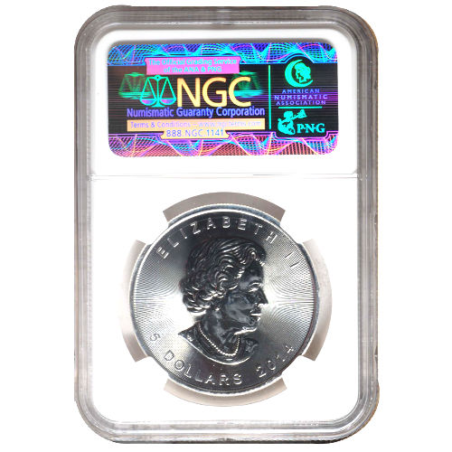 2014 Canadian Silver Maple Leaf NGC MS67