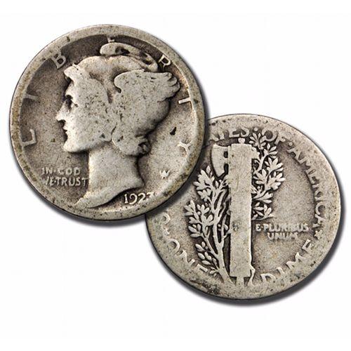 Buy 90 Silver Mercury Dimes 5 Face Value Silver Com