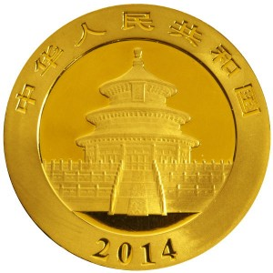 2014 1 oz Chinese Gold Panda (BU)