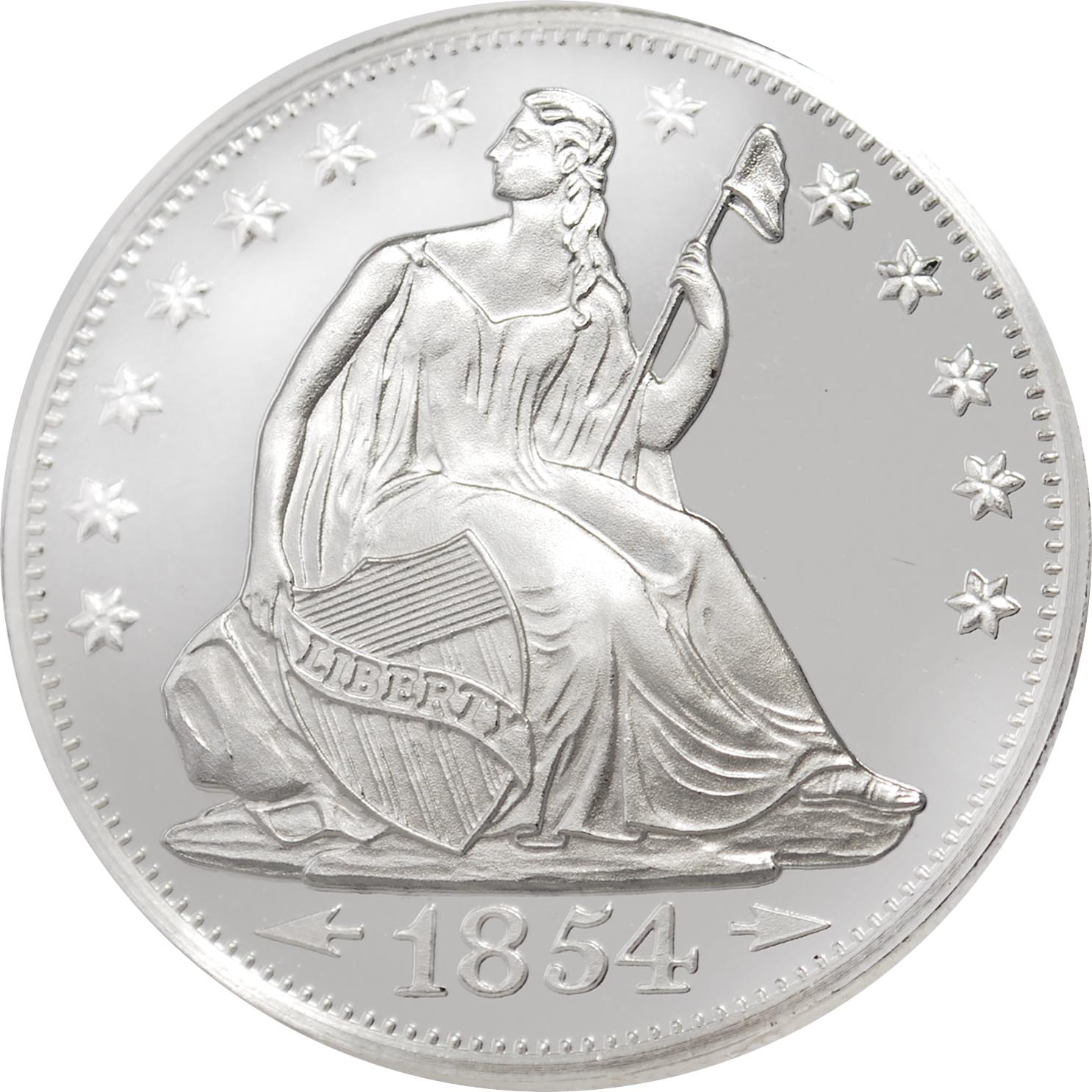 Buy 1 Oz Hm Seated Liberty Silver Rounds 999 New