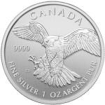 2014 1 oz Canadian Silver Peregrine Falcon (BU)