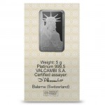 5 Gram Credit Suisse Platinum Bar (New w/ Assay)