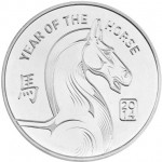 1 oz NTR Horse Silver Round (New)