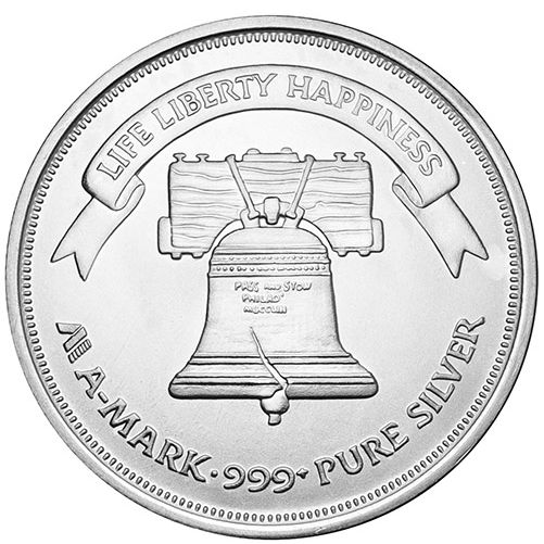 1 Oz A Mark Liberty Silver Rounds