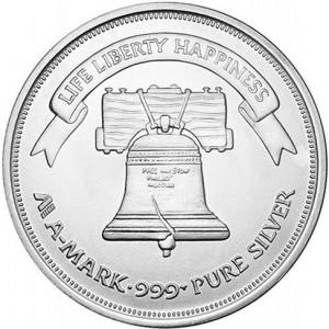 1 oz A-Mark Silver Round (New)