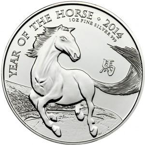 2014 1 oz British Silver Horse (BU)