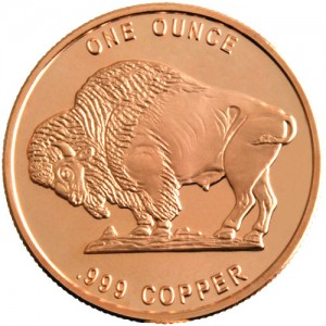 1 oz NTR Buffalo Copper Round (New)
