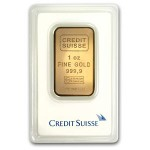 1 oz Credit Suisse Gold Bar (New w/ Assay)