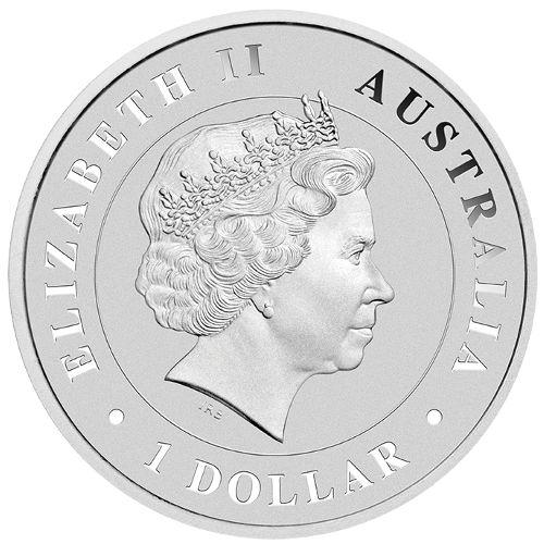 2014 1 oz Australian Silver Saltwater Crocodile (BU)