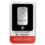 1 oz Engelhard Platinum Bar (w/ Assay)