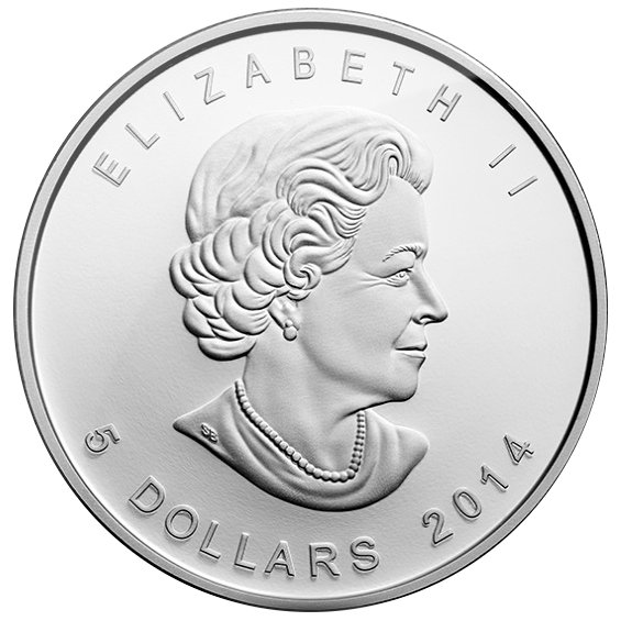 2014 1 oz Arctic Fox $5 Canadian Silver Coin