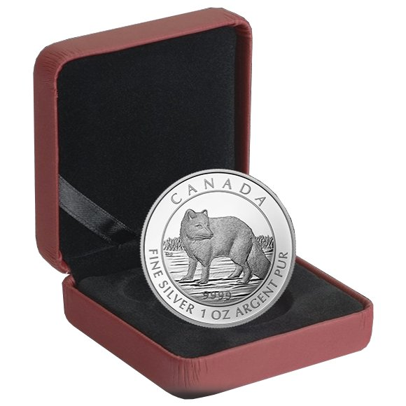 2014 1 oz Arctic Fox $5 Canadian Silver Coin