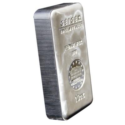 Buy 10 Oz Geiger Edelmetalle Silver Bars Silver Com