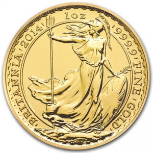 2014 1 oz British Gold Britannia (BU)