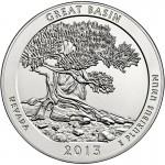 2013 5 oz ATB Great Basin Silver Coin (BU)